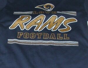 T-Shirt NFL Los Angeles Rams Blue T-Shirt Tee Girl's Youth Size 14 New W/ Tag