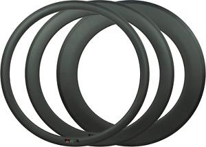 Carbon Felgen Rennrad Bahnrad Fixie 3K matt 38 / 60 / 88mm Clincher Tubular
