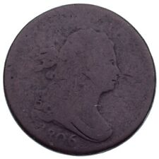 1806 Half Cent About Good Condition, Brown Color, Weak but Readable Date