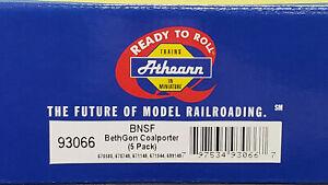 Athearn #93066 - HO - BNSF BethGon Coalporter - 5 Pack