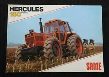 "1979-1983 SAME ""HERCULES 160 IMPORT TRACTOR"" SPECIFICATIONS SALES BROCHURE NICE"