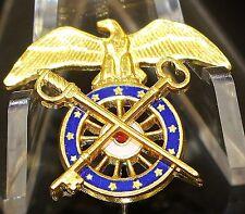 US Army Quartermaster Officer Badge Stick Pin Lapel Pin Krew G-I Like New 47