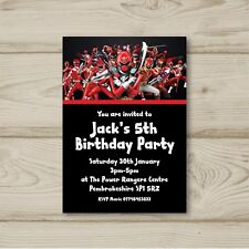 Power Rangers Birthday Party Invitations Personalised
