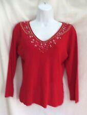 LULU Nicely Embellished V-neck Sweater- Size: M
