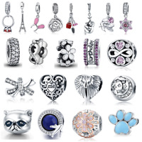 Wostu New 925 Sterling Silver Charms Fit Europe Bracelet Multiple Design Beads