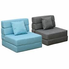 HOMCOM Schlafsessel Schlafsofa Sofabett Einzelsofa mit Waschbarem Kissen