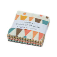 """MINI CHARM PACK~CORNER OF 5TH AND FUN~MODA FLORAL~42-2.5"""" SQUARES~SANDY GERVAIS~"""