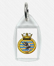 HMCS BEAVER KEY RING (ACRYLIC) ROYAL CANADIAN NAVY