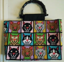 Handcrafted Plastic Canvas Cat Purse