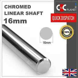 16mm Smooth Chromed Steel Linear shaft Round bar Rail slide rod Bearing 3D CNC