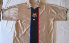 Camiseta Shirt Maglia Maillot Barcelona Nike 7 Saviola Away Gold Size L