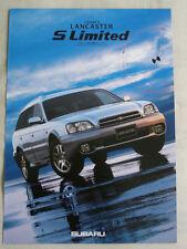 Subaru Legacy Lancaster S Limited brochure 1999 Japanese text