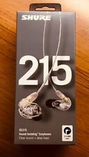 Shure SE215-CL Sound Isolating Earphones in CLEAR NIB !