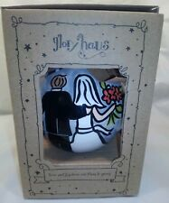 """Glory Haus Happily Ever After Bride & Groom Ball Ornament, 4.5"""""""