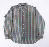 Polo Ralph Lauren Mens Classic Plaid & Check Long Sleeve Button Up Shirt Size XL