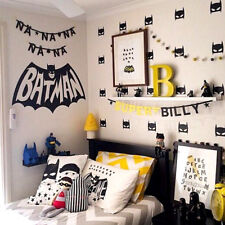 40Pcs/Set Hero Batman Mask Removable Wall Stickers for Kid Children Vinyl  Decal
