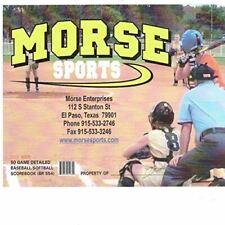 Morse Sports 12 Player Big Book Baseball/Softball Scorebook