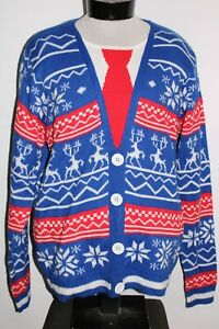 JOLLY SWEATERS Mens Large L UGLY-CHRISTMAS Sweater Combine ship Discount