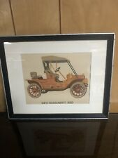 Reo Runabout 1910 Silk Framed Picture 15x10