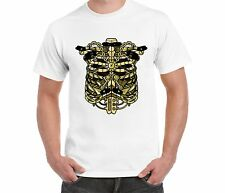 Unisex Party Retro funny SteamPunk Ribcage White T-shirt Skeleton Vintage
