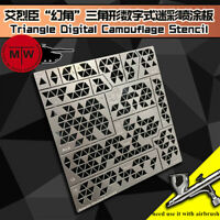 1/35 Triangle Digital Camouflage Stenciling Template Leakage Spray Model Tools