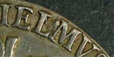 More details for 1689 william and mary silver half crown l over m error esc 503a rare