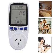 AU Plug Energy Meter Watt Volt Voltage Electricity Monitor Analyzer Power LED