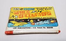 Space Encounters Invisible Ink Game Book Yes & Know Factory Sealed