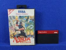 *Sega Master System NINJA GAIDEN Game (NI) Boxed Platformer RARE PAL