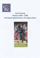 PAUL FURLONG CHELSEA 1994-1996 ORIGINAL HAND SIGNED MAGAZINE CUTTING