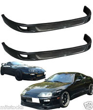 2 X 93-98 TOYOTA SUPRA TRD V2 STYLE FRONT PU BUMPER SPOILER ADD ON LIP BLACK