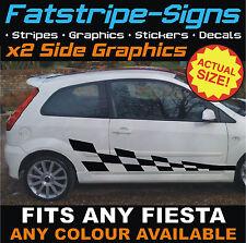 Ford Fiesta St coche Checker gráficos Vinilo Rayas Calcomanías Stickers Mk6 1.6 2.0
