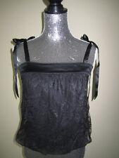 Bebe Black Lace Shirt Size XSmall