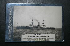 HMS Royal Sovereign     Royal Navy Battleship   1901 Original Vintage Card
