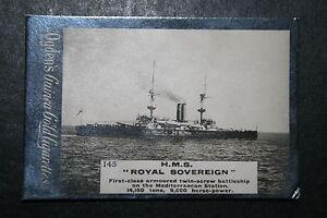 HMS Royal Sovereign     Royal Navy Battleship   1901 Original Vintage Card
