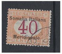 Somalia - 1906/8, 40c Postage Due stamp - F/U - SG D21