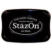 TSUKINEKO StazOn Ink Pad Solvent Based FULL SIZE Jet Black SZ31 Any surface