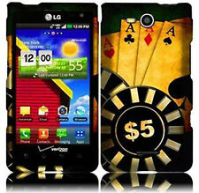 LG Lucid 4G VS840 Rubberized HARD Protector Case Snap On Phone Cover Ace Poker