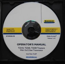 NEW HOLLAND T2310 T2320 T2330 TRACTOR 12x12 GEAR TRANSMISSION OPERATORS MANUAL