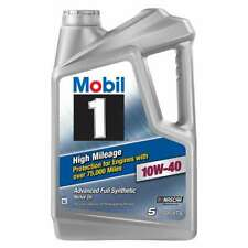 Motor Oil Bottle Full Synthetic High Mileage 10W-40 Engine Protection 5 Qt 1-Pk