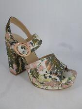 New Look Botanical Brocade Platform Heel Sandal UK 6 EU 39 LN086 LL 02