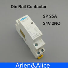 TOCT1 2P 25A 24V 50/60HZ Din rail Household ac contactor 2NO