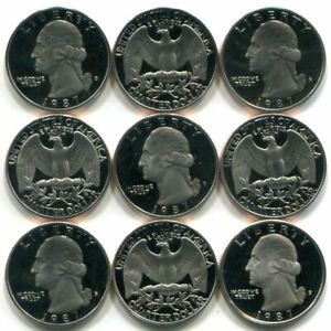 Roll of 40 GEM PROOF CAMEO 1987-S Washington Quarters - Free Shipping