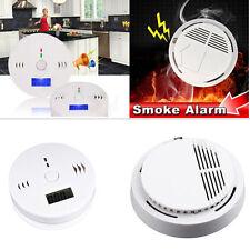 Wireless Photoelectric Smoke Alarm Detector Fire Sensor for Home Security LA