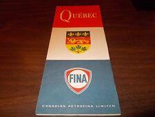 1967 Fina Oil Quebec Vintage Road Map