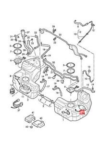 Genuine AUDI R8 4S3 4S9 4SP 4SR Fuel Filter With Pressure Regulator 4S0201511
