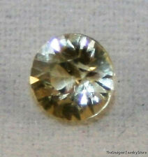 NATURAL LIGHT YELLOW SAPPHIRE LOOSE GEMSTONE 4.5MM FACETED ROUND 0.45CT GEM SA12