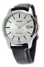 Casio Men's Analog Quartz Stainless Steel Black Leather Watch MTPV004L-7A