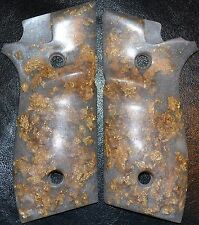 Taurus PT945 pistol grips pearl with gold leaf- plastic