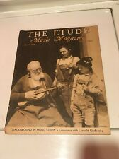 Vintage THE ETUDE Sheet Music Magazine June 1936 Issue great ads art pics